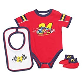nascar baby clothes 24 Jeff Gordon Creeper Bib Booties