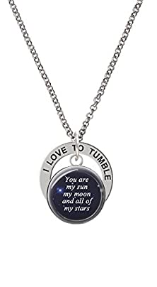 buy Domed You Are My Sun, My Moon I Love To Tumble Affirmation Ring Necklace