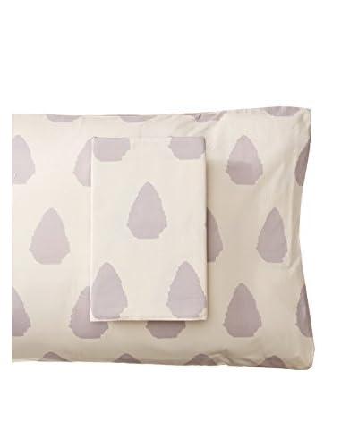 Allem Studio Pair of Seville Standard Pillowcases, Grey