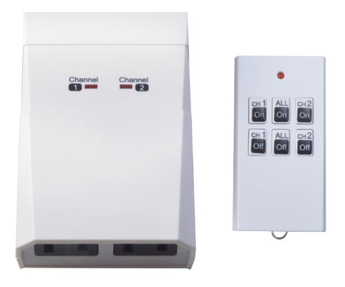 Woods 59780 Indoor Remote Control for Appliances with 2-Outlets Grounded
