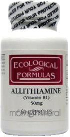 Allithiamine 50 mg 60 Capsules by Ecological Formulas