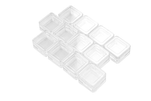 SE 8741BB 12 Stackable Square Plastic Containers, Clear (Plastic Stackable Containers compare prices)