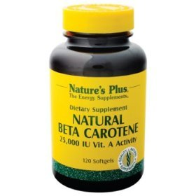 Nature'S Plus - Natural Beta Carotene, 25000Iu, 120 Softgels