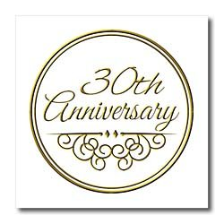 InspirationzStore Occasions – 30th Anniversary gift – gold text for celebrating wedding anniversaries – 30 years married together – Iron on Heat Transfers – 6×6 Iron on Heat Transfer for White Material