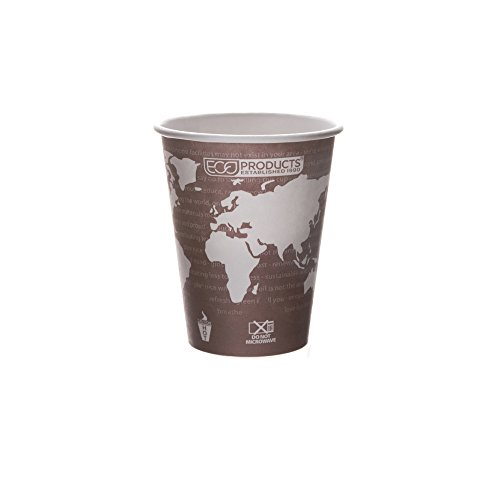 Eco-Products - Renewable & Compostable Hot Cups - 8 oz. Coffee Cup - EP-BHC8-WA (20 Packs of 50)