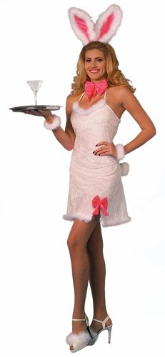 Forum Novelties Furry Pink Cocktail Bunny Costume - Standard