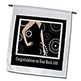 Congratulations on Your Boob Job, Black Dress on Dot Design - 12 X 18 Inch Garden Flag