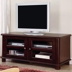 Cheap TV Stands Transitional Media Console with Doors and Shelves by Coaster (B0051PEF82)
