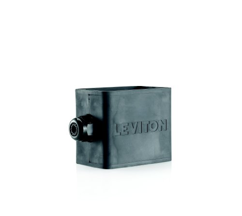 Leviton 3059-1E Portable Outlet Box, Sing-Gang, Standard Depth, Pendant Style, Cable Diameter 0.230-Inch 0.546-Inch, Black