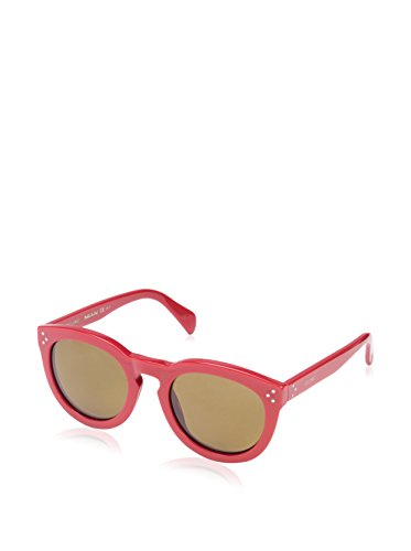Céline Women's CL41801 Sunglasses, Solid Red