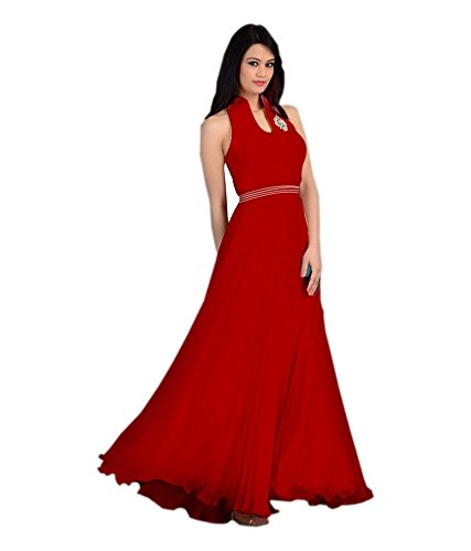 Icon Pink Party Wears Western Gown Dress In Free Size Price In India