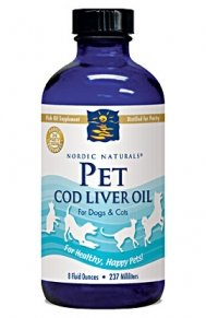 Pet Cod Liver Oil for Dogs & Cats by Nordic Naturals - 16 Fluid Ounces
