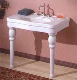 Buy Astoria Console Leg Sink - 42 x 23 - White (Cheviot Sinks, Plumbing, Sinks, Bathroom, Consoles)