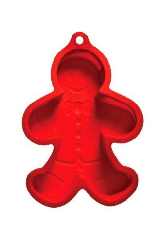 Premier Housewares Moule à gâteau en forme de bonhomme en pain d'épice Silicone Rouge