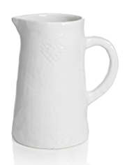 Cross Stitch Ceramic Jug