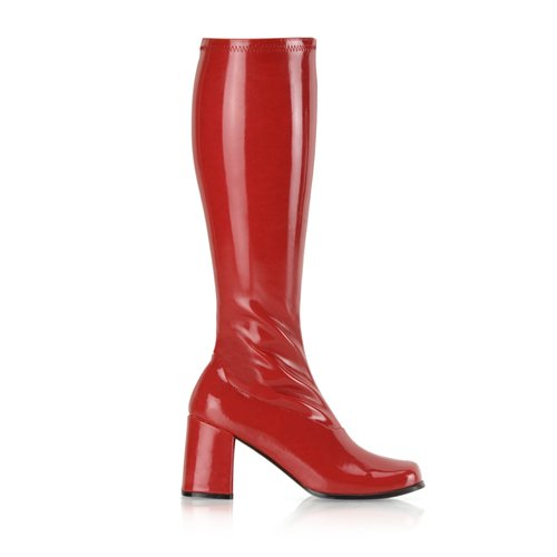 GOGO-300, Color: Red Stretch Pat, Women's Size (US): 9