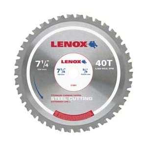 Lenox Tools 21879ST700038CT Metal Cutting Circular Saw Blade, 7 by 38 Teeth, Steel at Sears.com
