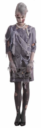 Woman's Zombie Costume, Gray, One Size