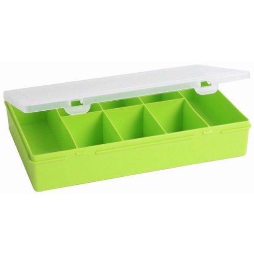 5x Wham 12846Boîte de rangement 3.01, 8compartiments, 29x 19x 5,5cm, vert citron