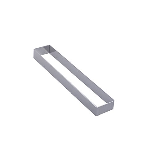De Buyer 3941.18 Cercle Rectangle inox - ht. 2 cm - 18 x 3 cm