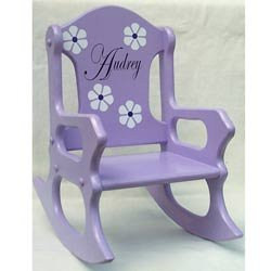 Personalized Perfectly Purple Rocking Chair by Ababy
