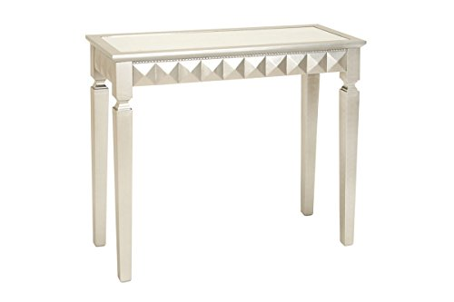 Deco 79 Wood Mirror Console Table, 37 by 32-Inch, Silver (Mirror For Console compare prices)