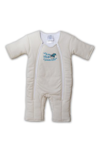 Baby Merlin's Magic Sleepsuit Cotton - Cream- Large