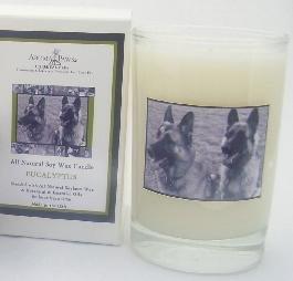 Aroma Paws 222 - Breed Candle Glass Gift Box - German Shepard - Eucalyptus - 5 Oz