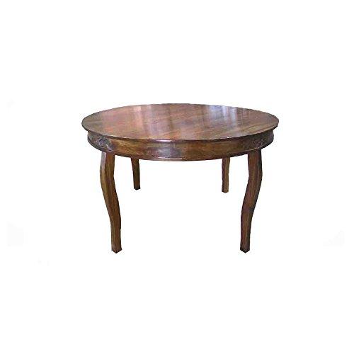 Nikunj Dining Table (Natural Finish, Brown)