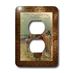 Sandy Mertens Vintage Christmas Designs – Vintage Shepherds and the Star of Bethlehem – Light Switch Covers – 2 plug outlet cover