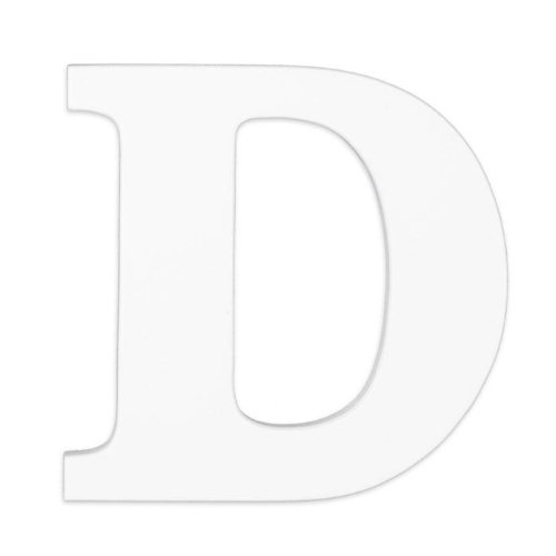 "Wooden Letter ""D"" Hanging Initials Color: White - 1"