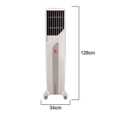 Cello Tower 50-Litre Air Cooler (White/Green)