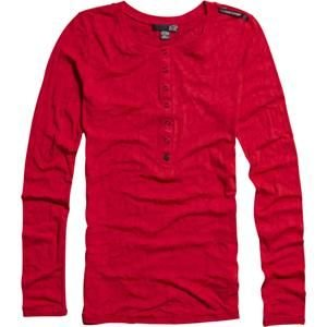 Fox Racing Women's Invisible Henley Long Sleeve T-Shirt - X-Large/Dark Red