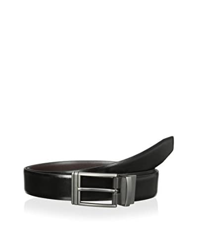 Van Heusen Men's Matte Gunmetal Buckle Reversible Belt