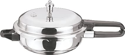 Vinod-Cookware-Stainless-Steel-Sandwich-Bottom-4-L-Pressure-Cooker-(Induction-Bottom,Outer-Lid)