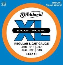 D'Addario EXL110x5 , Electric Guitar Strings, Nickel Round W