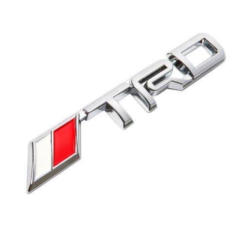 Toyota TRD Chrome 3D Emblem 6 Badge 3M Adhesive Sticker Model: Car/Vehicle Accessories/Parts (Trd Emblem Chrome compare prices)