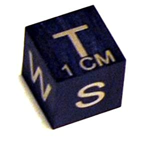 Amazon.com: 1cm Black Brushed Scale Cube: Industrial