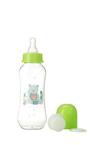 Abstract 9 Oz. Baby Feeding Bottle with Cover and Strainer - 1