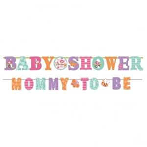 Tweet Baby Girl Shower Illustrated Letter Banner from Amscan