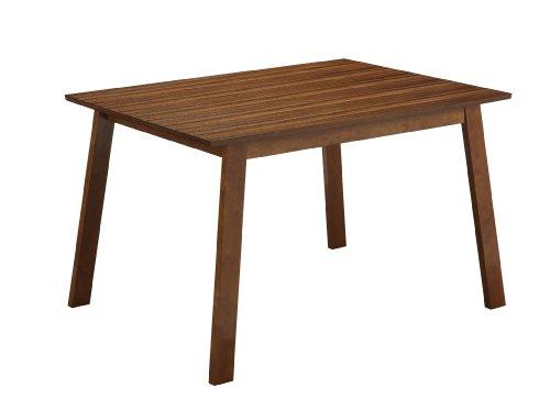 Boraam 33112 Zebra Series Hagen Dining Table, Honey Oak front-533177