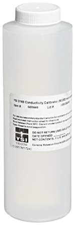 YSI 060660 Supersaturated Sea Water Conductivity Calibrator Solution, 50000 uS/cm Range (Box of 1, 8 Pints per Box)