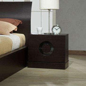 J&M Furniture Zen Nightstand in Black