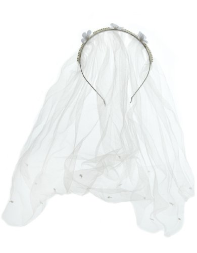 Monsoon Girls Communion Pearl Veil Alice Size One Size White
