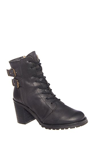 Mo Mid Heel Lace Up Boot