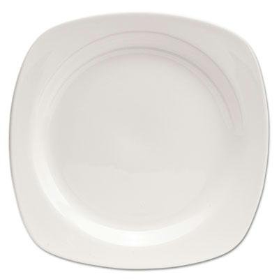 "Brand New Office Settings Chef'S Table Porcelain Square Dinnerware Salad Plate 8 1/2"" Dia White 8/Box"