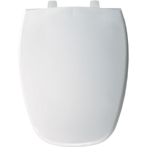 Bemis 1240205000 Eljer Emblem Plastic Elongated Toilet Seat, White