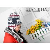 Lovely Deer-Design Bobble Beanie Hat With Braided Earflaps And Built-In Headphones (Kids/Women Fit) Style New Gadget