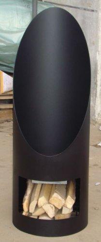 Kamin Ofen Soler, schwarz, Schwarz, 44 x 120 cm