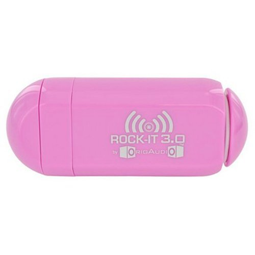 Origaudio Rock-It 3.0 Portable Vibration Speaker System For Ipod, Iphone And Standard 3.5 Mm Jack (Pink)